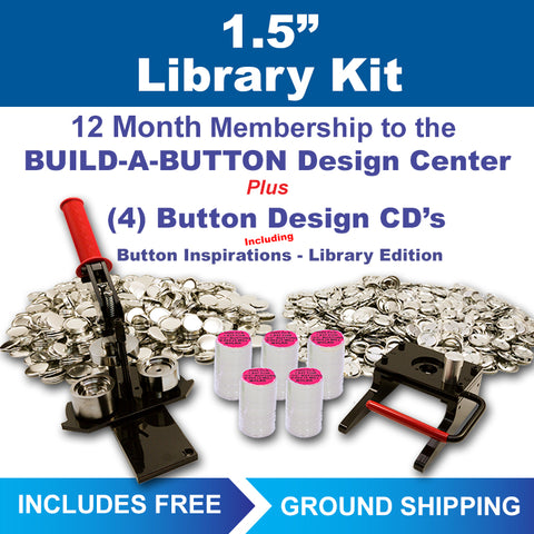 "1.5"" button maker kit for libraries"