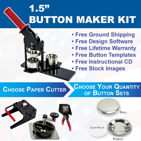 one and a half inch button maker kit