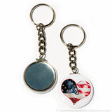 "1.5"" Chain Key Ring - American Button Machines"