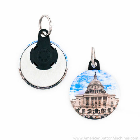 "1.5"" Versa-Back Mini Split Keyring Set - American Button Machines"