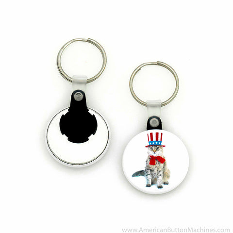 "1.5"" Versa-Back Split Keyring Set - American Button Machines"