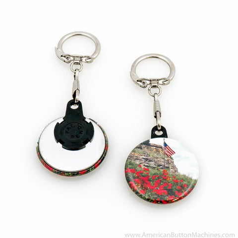 "1.5"" Versa-Back Snap Hook Keychain Set - American Button Machines"