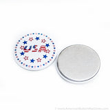 "1.75"" Metal Flat Back Button Set"