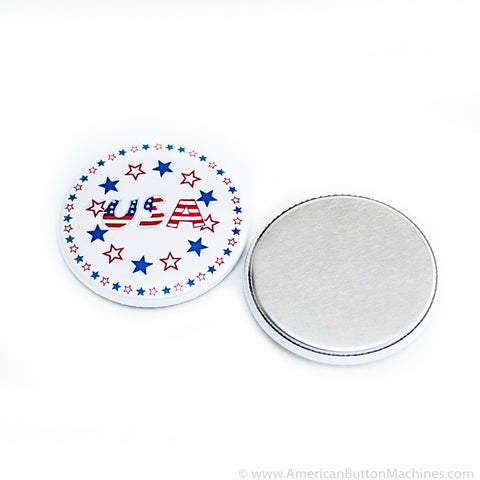 "1.75"" Metal Flat Back Button Set - American Button Machines"