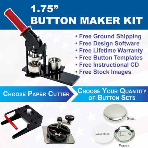 one and three quarter inch button maker kit