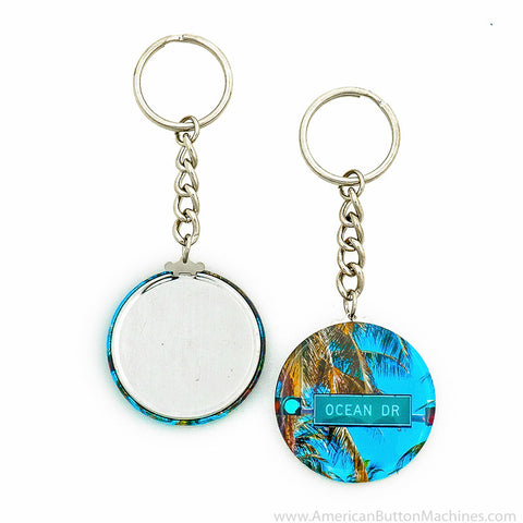 "1.75"" Chain Key Ring - American Button Machines"