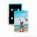 "1.75""x2.75"" Rectangle Vertical Pinback Sets"
