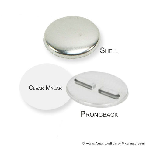 "2.25"" Long Prong Back Button Sets - 1,000/Pkg"