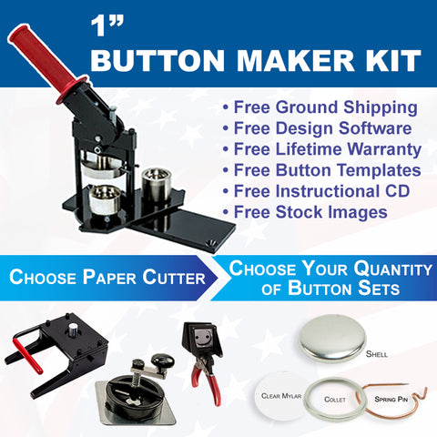 "1"" button maker kit"