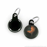 "1"" Versa-Back Mini Split Keyring Set - American Button Machines"