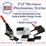2x3 inch rectangle button maker kit