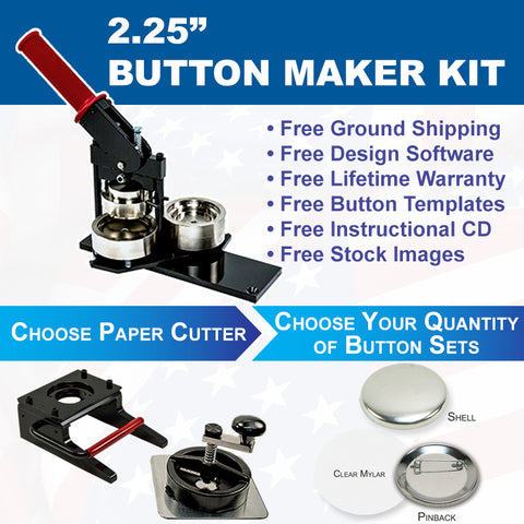 2.25 inch button maker kit