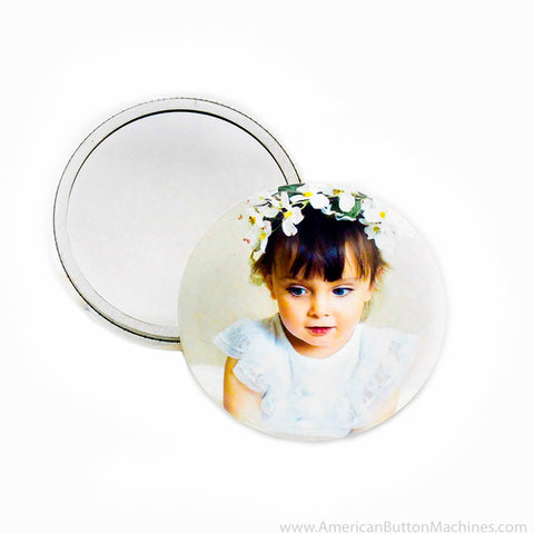 "2.25"" Mirror Back Buttons - American Button Machines"