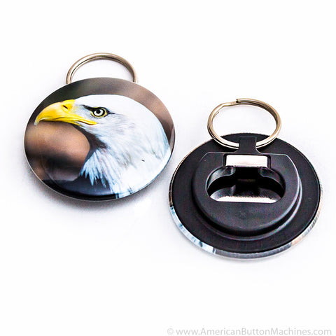 "2.25"" Plastic Backed Bottle Opener Set - American Button Machines"