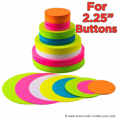 "Pre-Cut Paper Circles for 2.25"" Pinback Buttons - American Button Machines"