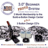 "3"" Beginner Paper/Photo Button Kit"