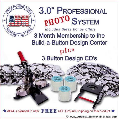 "3"" Professional Paper/Photo Button Kit"