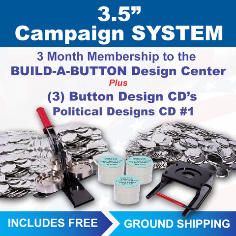 3.5 inch campaign button maker kit