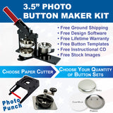 "3.5"" photo button maker kit"