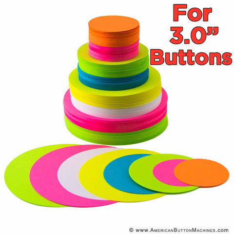 "Pre-Cut Paper Circles for 3"" Pinback Buttons - American Button Machines"