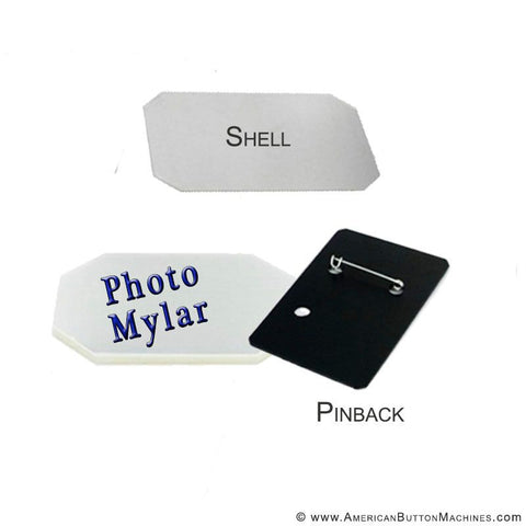 2x3 Inch Vertical Pinback Button Set - Photo