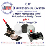 "6"" Professional Button Kit - American Button Machines"