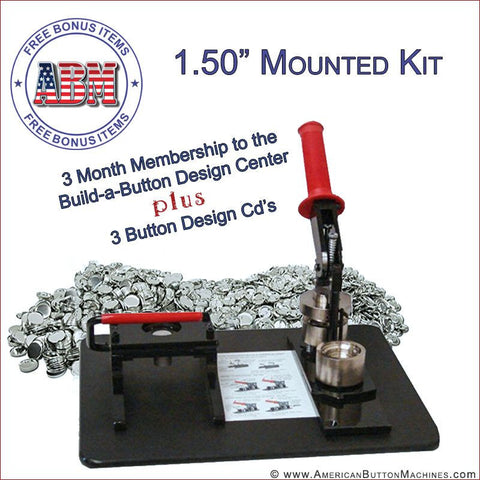 "1.5"" Mounted Button Making Kit - American Button Machines"