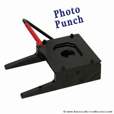 "2""x3"" Rectangle Photo Punch - American Button Machines"