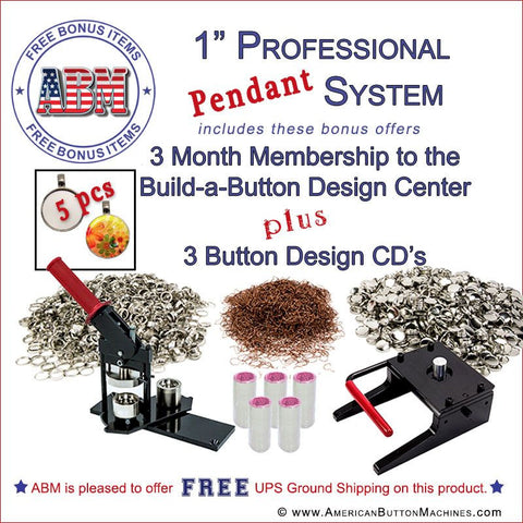 "1"" Professional Button Kit * Pendant Special"