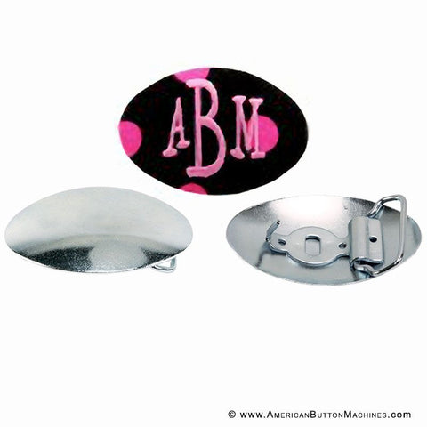 Monogrammed Belt Buckle - American Button Machines