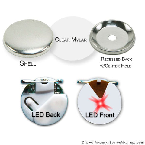 "1.5"" Red Flashing Button Kit"