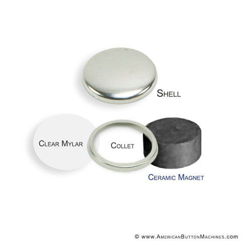 "1"" Round Ceramic Magnet Set"
