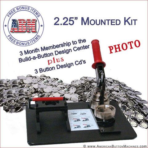 "2.25"" Mounted Photo Button Making Kit - American Button Machines"