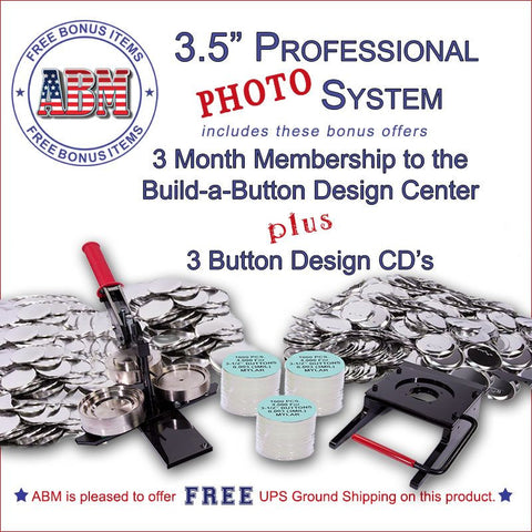 "3.5"" Professional Paper/Photo Button Kit"