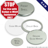 "2.25"" B.A.M Mirror Back Button Set - American Button Machines"