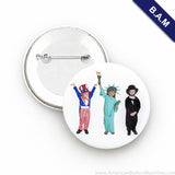 "3"" B.A.M. Pin Back Button Sets"