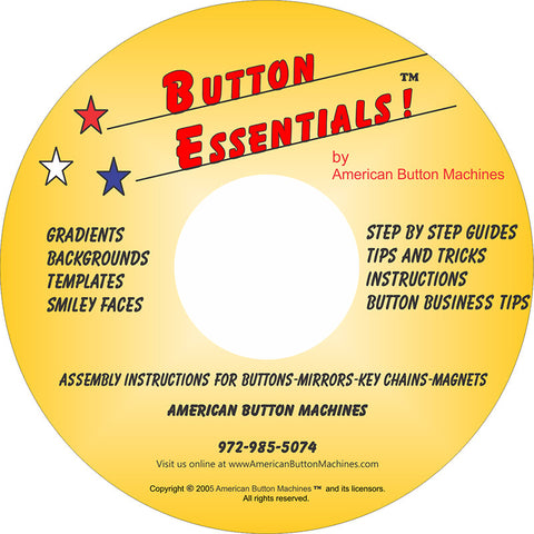 Button Essentials Design CD - American Button Machines
