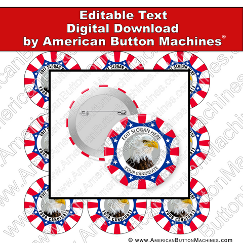 Campaign Button Design - Digital Download for Buttons - 101