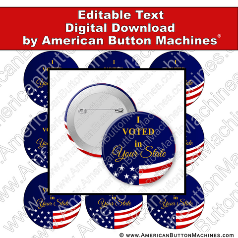Campaign Button Design - Digital Download for Buttons - 107