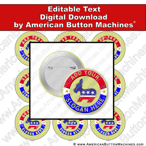 Campaign Button Design - Digital Download for Buttons - 104