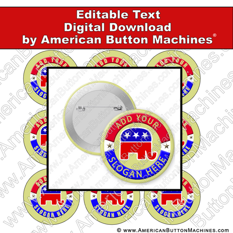 Campaign Button Design - Digital Download for Buttons - 103