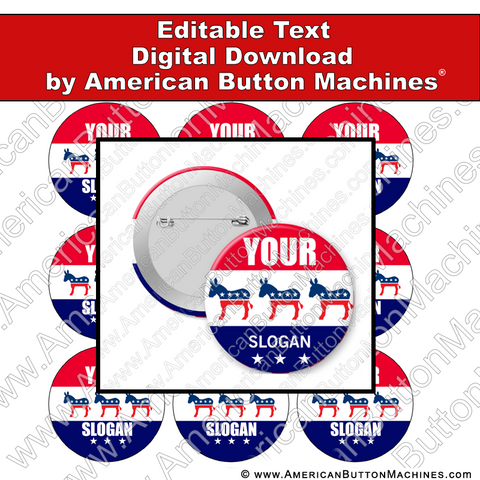 Campaign Button Design - Digital Download for Buttons - 105