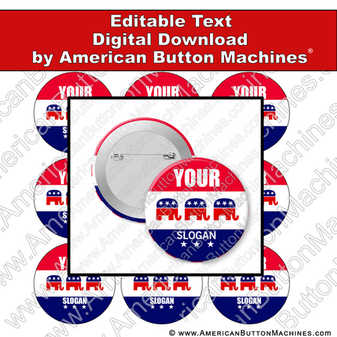 Campaign Button Design - Digital Download for Buttons - 106