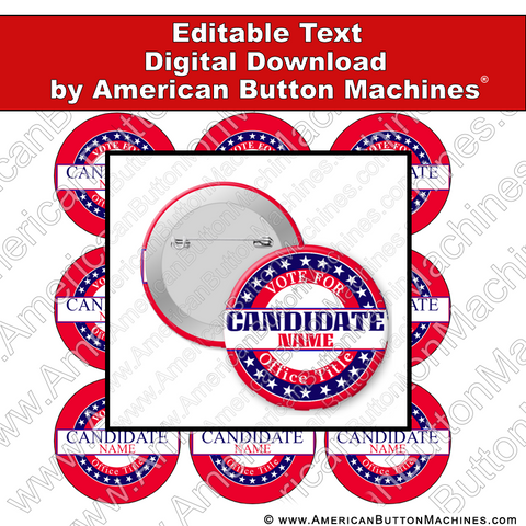 Campaign Button Design - Digital Download for Buttons - 114