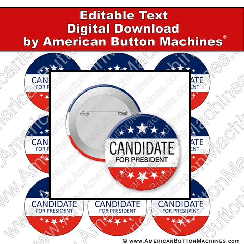 Campaign Button Design - Digital Download for Buttons - 115