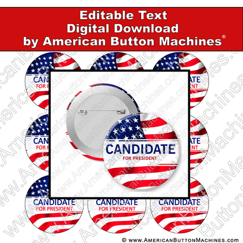 Campaign Button Design - Digital Download for Buttons - 116
