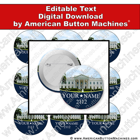 Campaign Button Design - Digital Download for Buttons - 118