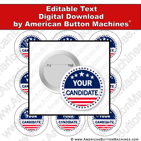 Campaign Button Design - Digital Download for Buttons - 120
