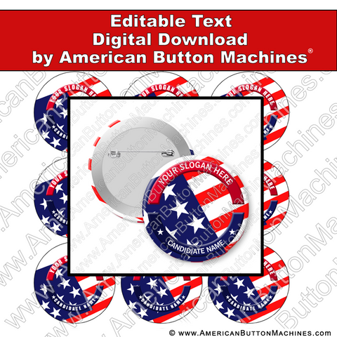 Editable campaign button design