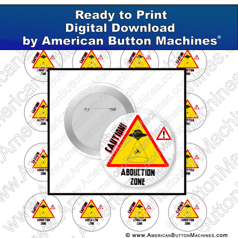 Digital Download, Digital Download for Buttons, aliens, UFO, abduction